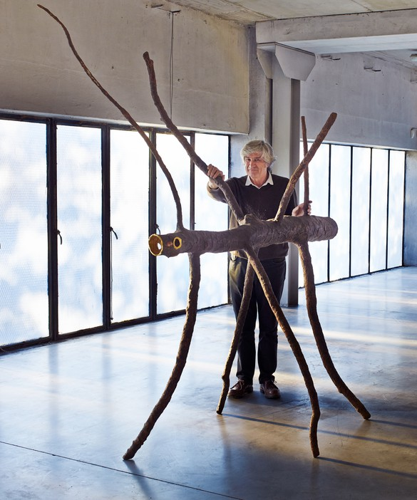 Giuseppe Penone with Spazio di luce (Space of Light) (2008) in his studio, Turin, Italy, 2016