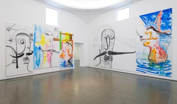 Installation view, Albert Oehlen, Serpentine Galleries, London, October 2, 2019–February 2, 2020. Photo: readsreads.info