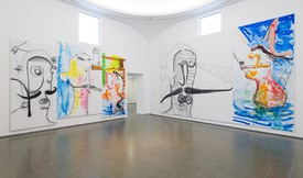 Installation view, Albert Oehlen, Serpentine Galleries, London, October 2, 2019–February 2, 2020.