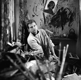 Francis Bacon in his studio in Battersea, London. Photo: © The Cecil Beaton Studio Archive at Sotheby's