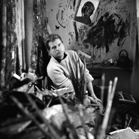 Francis Bacon in his studio in Battersea, London, 1960. Photo: © The Cecil Beaton Studio Archive at Sotheby's