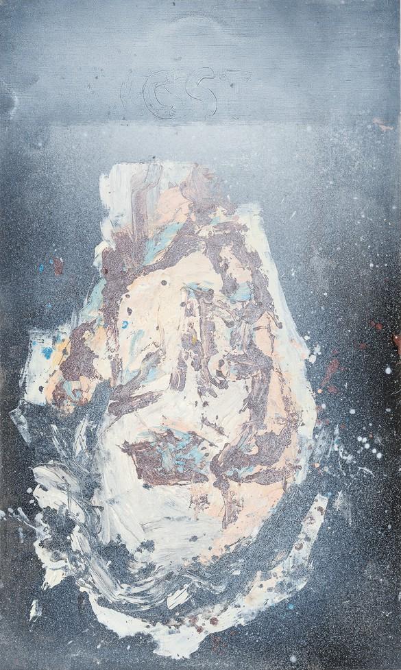 Georg Baselitz, Clyfford Still, 2018, oil on canvas, 64 ⅞ × 39 ⅜ inches (165 × 100 cm)