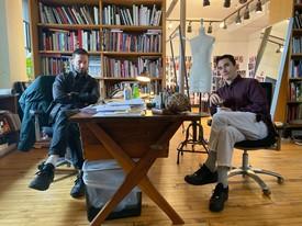 Jack McCollough and Lazaro Hernandez in their New York studio, 2019.