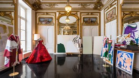View of the Valentino Haute Couture offices, Paris, including couture and artworks. Photo: © Gregory Copitet