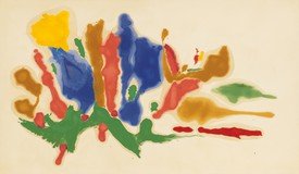 Helen Frankenthaler, Cool Summer, 1962, oil on canvas, 69 ¾ × 120 inches (177.2 × 304.8 cm), Collection Helen Frankenthaler Foundation.