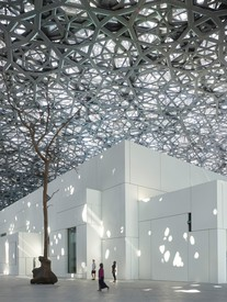 Giuseppe Penone, Leaves of Light – Tree, 2016, installed at the Louvre Abu Dhabi.