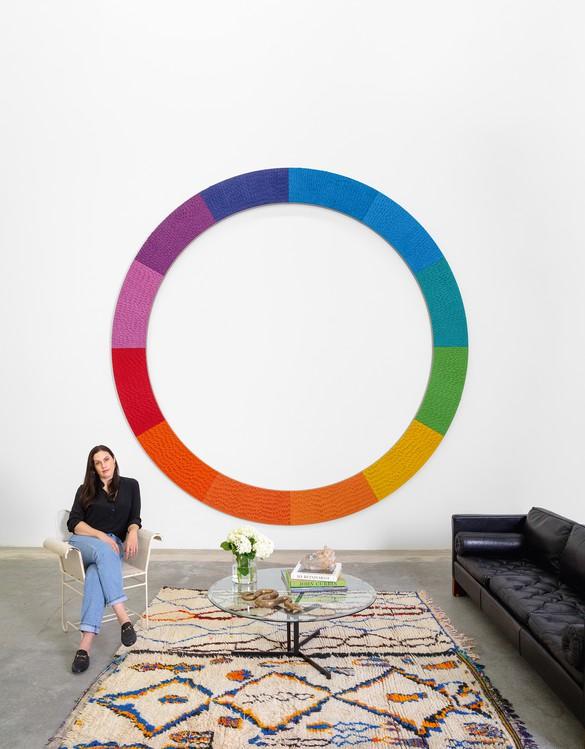 Jennifer Guidi in her Los Angeles studio, 2020