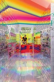 Installation view, Lauren Halsey, David Kordansky Gallery, Los Angeles, January 25–March 14, 2020. Artwork © Lauren Halsey. Photo: Jeff McLane, courtesy David Kordansky Gallery, Los Angeles