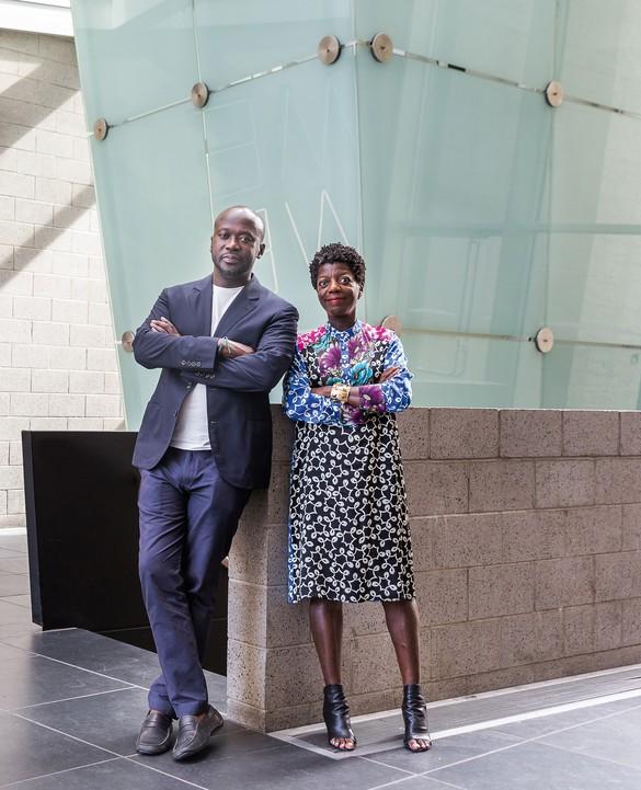 Thelma Golden and David Adjaye. Photo: Scott Rudd
