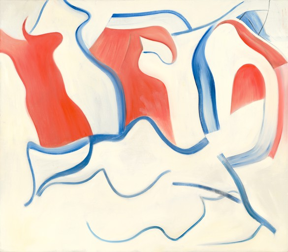 Willem de Kooning, Untitled XXIX, 1983, oil on canvas, 77 × 88 inches (195.6 × 223.5 cm)
