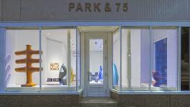 The exterior of Gagosian, Park & 75. An exhibition of John Mason sculptures.