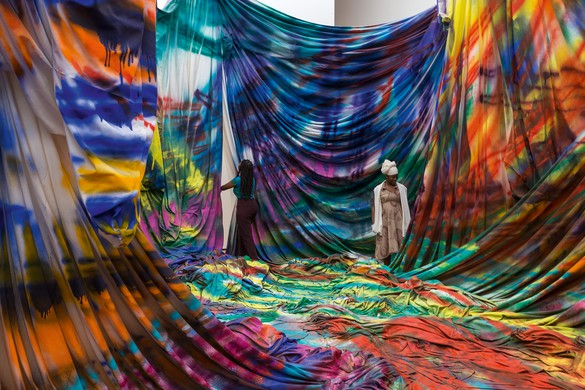 Installation view, Katharina Grosse: Is It You?, Baltimore Museum of Art, March 1–June 28, 2020