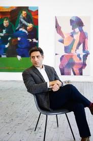 Kon Trubkovich in his studio, Brooklyn, New York, 2021.