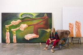 Louise Bonnet in her Los Angeles studio, 2020