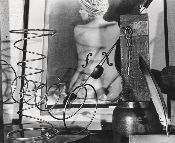 Man Ray's Le Violon d'Ingres with assemblages. Also pictured from left to right: It's Springtime, Person to Person, and Featherweight