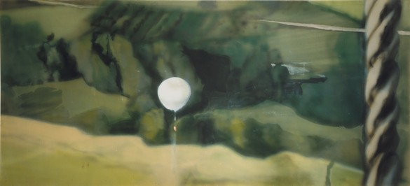 Michael Andrews, Lights I: Out of Doors, 1970, acrylic on canvas, 56 × 122 ⅞ inches (142.3 × 312 cm), private collection. Photo by Antonia Reeve Photography