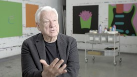 Michael Craig-Martin at his London studio, 2019