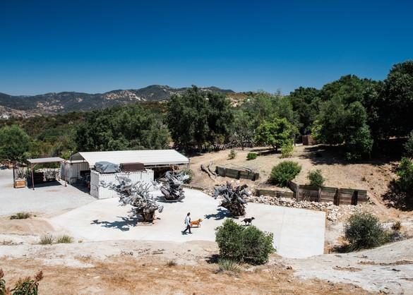 Nancy Rubins's studio in Topanga Canyon, California