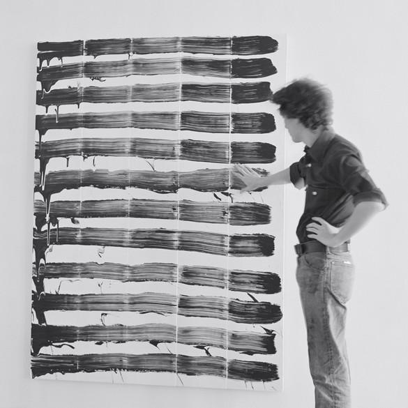David Reed at Susan Caldwell Gallery, New York, 1975 © 2017 David Reed/Artists Rights Society (ARS), NY, Photo by Lisa Kahane, NYC