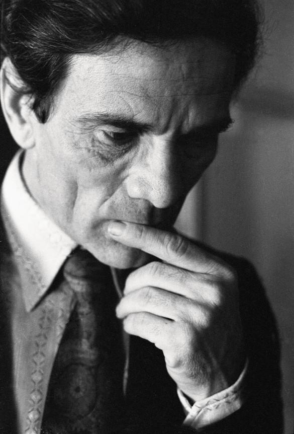 Pier Paolo Pasolini, 1971. Photo: Sandro Becchetti, courtesy Leemage/Corbis via Getty Images