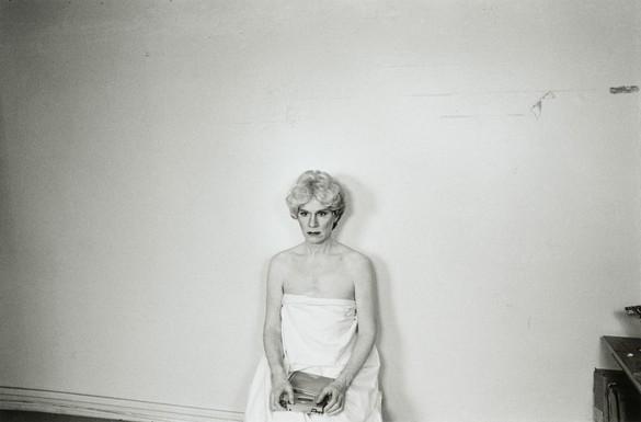 Ari Marcopoulos,Andy Warhol, 1981, gelatin silver print. Frances Lehman Loeb Art Center, Vassar College, Poughkeepsie, New York © Ari Marcopoulos
