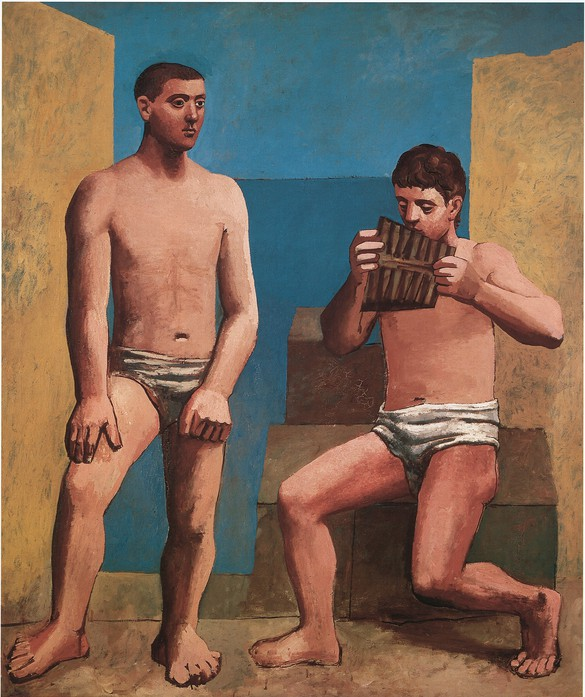 Pablo Picasso, La Flûte de Pan, 1923, oil on canvas, 80 ¾ × 68 ½ inches (205 × 174 cm), Musée National Picasso-Paris.