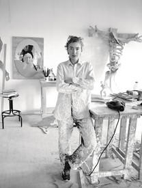 Rachel Feinstein in her West 15th Street studio, New York, 2002.