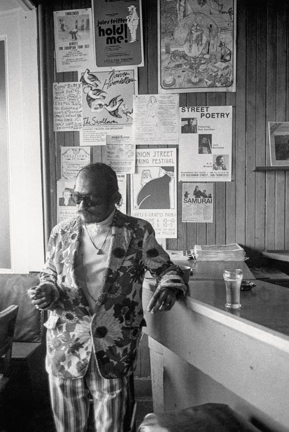 Bob Kaufman, Coffee Gallery, Grant Avenue, San Francisco, 1978. Photo: Ira Nowinski