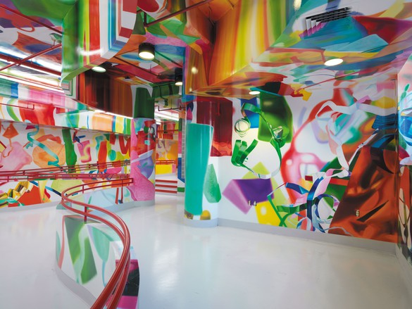 Dan Colen installation at St. Mary's Healthcare System for Children, Bayside, NY. Photo by Christopher Burke Studio