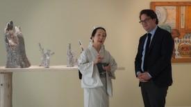 The artist Setsuko in Paris