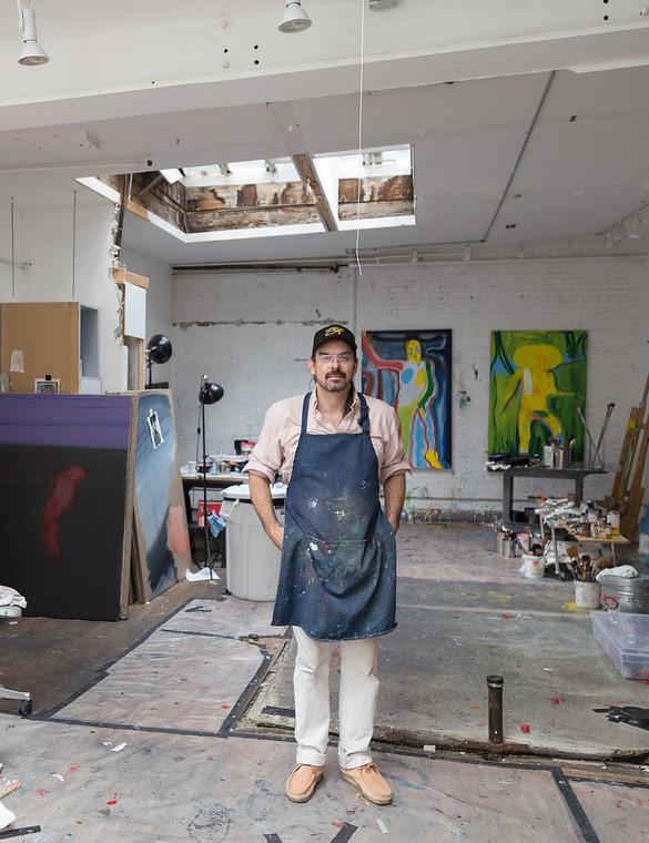 Spencer Sweeney in his studio, New York