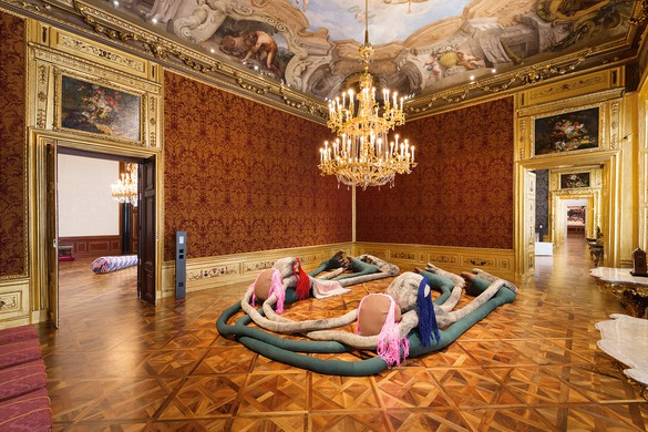 Installation view, Sterling Ruby, Winterpalais, Belvedere Museum, Vienna, July 8–October 16, 2016