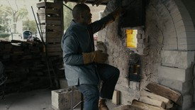 Theaster Gates in his studio