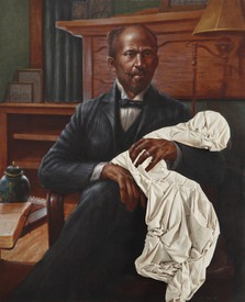Titus Kaphar, Father and Son, 2010, oil on canvas, 59 ⅞ × 48 inches (152 × 122 cm). Photo: Jon Lam Photography, courtesy Friedman Benda