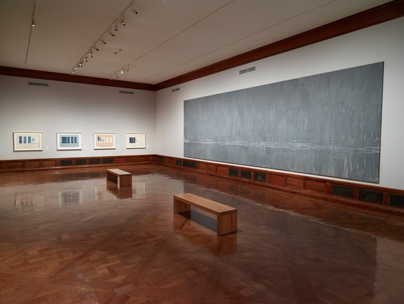 Installation view, Cy Twombly: Treatise on the Veil, Morgan Library and Museum, New York, September 26, 2014–January 25, 2015