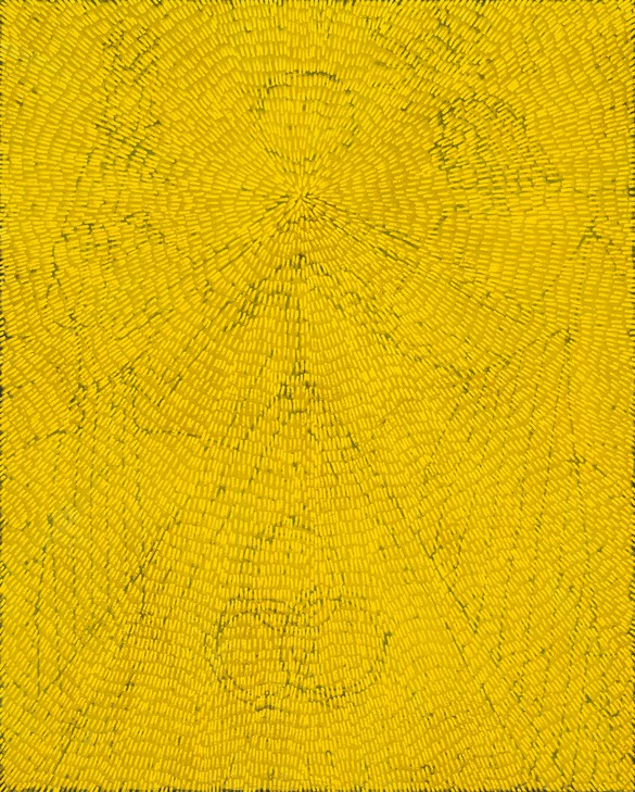 Jennifer Guidi, We Shine Outward Into the Universe (Gemini and Cancer), 2019, sand, acrylic, and oil on linen, 92 × 74 inches (233.7 × 188 cm)
