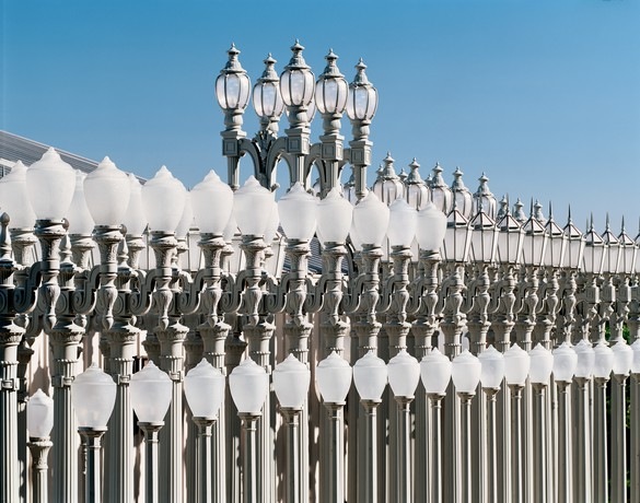 Chris Burden's Urban Light (2008) at the Los Angeles County Museum of Art. Photo by Erich Koyama, courtesy the Chris Burden Estate