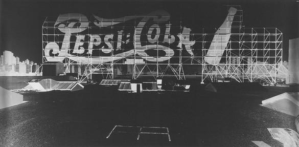 Vera Lutter, Pepsi Cola (small logo): August 10, 2002, 2002, gelatin silver print, 13 ¼ × 27 ½ inches (33.7 × 69.8 cm), unique