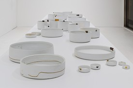 Installation view, Edmund de Waal: some winter pots, Gagosian, Davies Street
