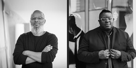 Portraits of Meleko Mokgosi and Isaac Julien