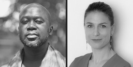 David Adjaye (left). Photo: Chris Schwagga. Zoë Ryan (right). Photo: Clare Britt