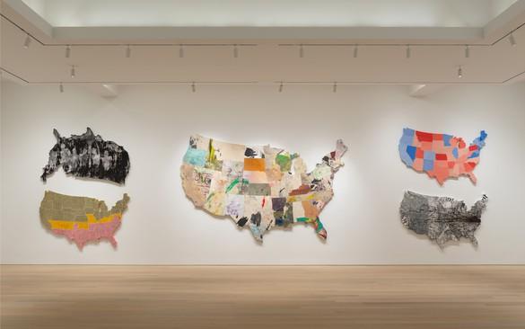 Installation view, Nate Lowman: Never Remember, Gagosian, 980 Madison, New York, October 19–December 15, 2018