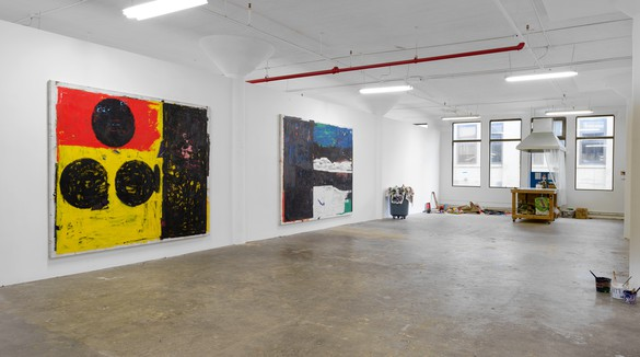 Joe Bradley's studio, New York, 2018
