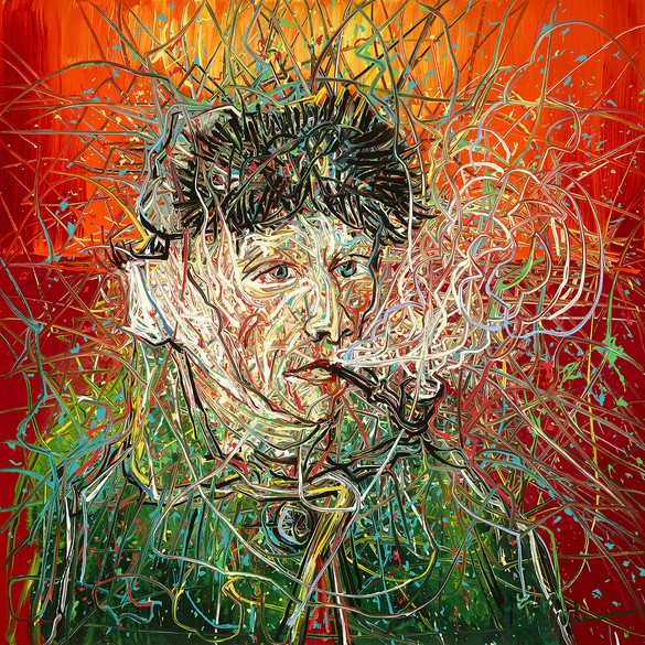 Zeng Fanzhi, Van Gogh III, 2017, oil on canvas, 39 ⅜ × 39 ⅜ inches (100 × 100 cm)